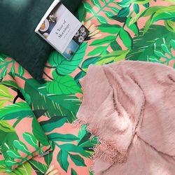 양면방수 피크닉매트 어반 정글-버블핑크L(매트단품)