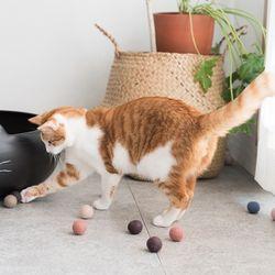 고양이도넛 양모 도넛볼 32개