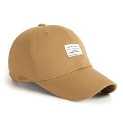 BASIC W LABEL CAP BEIGE