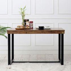 LD 원목 다크 프레임 2인용 식탁 테이블