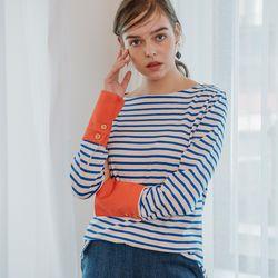 Stripe Cuffs T (Blue)