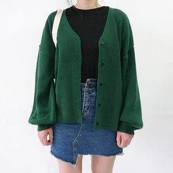 Basic puff cardigan