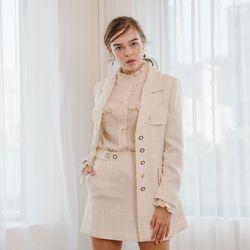 Ivory Tweed Mini Skirt
