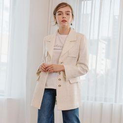 Ivory Tweed Jacket
