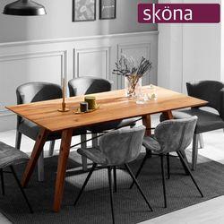 델리아 오크 원목 4인 식탁 테이블(원목형)