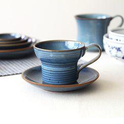 로자비 데님 커피잔 컵180ml & 소서(P형) (477-019)
