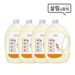 살림의정석 세탁선생 섬유유연제3.1LX4개
