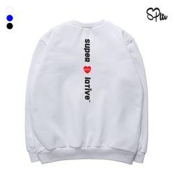 슈퍼레이티브 - LOVE KIDULT 기모 맨투맨 - 3컬러