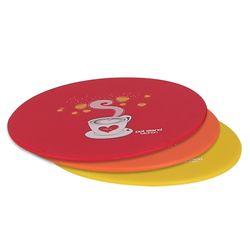 실리콘 커피 냄비받침(레드옐로우오렌지)