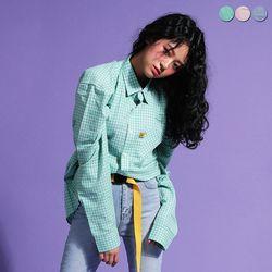 Cotton Candy Check Shirt(3color)(unisex)