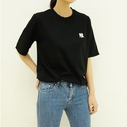 NY 자수 반팔 티셔츠 (4color)