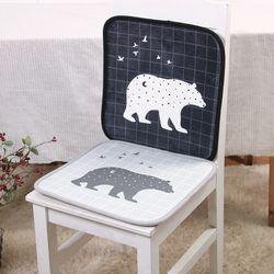 북유럽 곰 메모리폼 사각방석