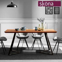 델리아 오크 원목 4인 식탁 테이블(철재형)