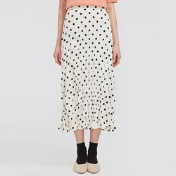 favorite dot pleats skirt