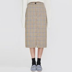 able midi check skirt