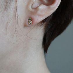 미니 파인애플 귀걸이