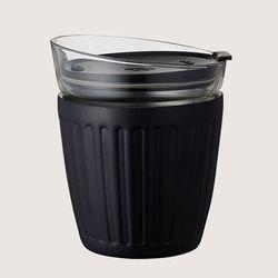 [DOSHISHA] 더블월 보온보냉 글라스 라떼컵 블랙