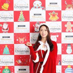 크리스마스 포토존 현수막-체크레드 (150x210)