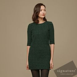 Green Tweed dress