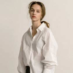 SLEEVE BALLOON SHIRT (WHITE)