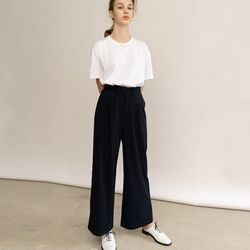 WIDE TROUSERS (NAVY)