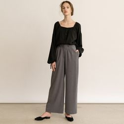 WIDE TROUSERS (GREY)
