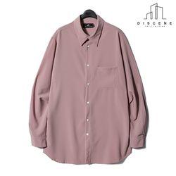 디씬 - 레이온셔츠 - 핑크