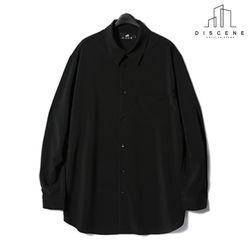 디씬 - 레이온셔츠 - 블랙