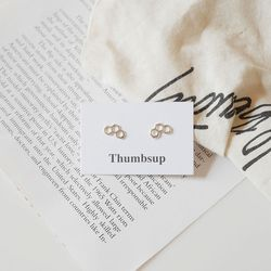[925실버]트리플 육각 귀걸이