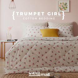 누비지오 트럼펫소녀 면 40수 차렵이불 베개세트 싱글