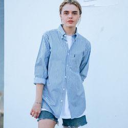 18ss 플루크 WOMEN 스트라이프 셔츠 FLS018C802 블루