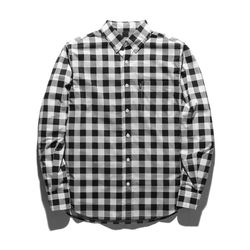 18ss 플루크 체커 셔츠 FLS018C805 블랙