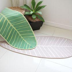 바나나 잎 롱 주방 매트