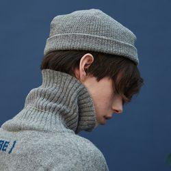 knit beanie (gray)
