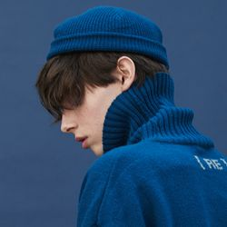 knit beanie (ink blue)
