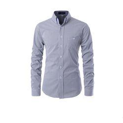 [쿨룩] 남성 깅엄체크 패턴 긴팔 셔츠 ALLS522