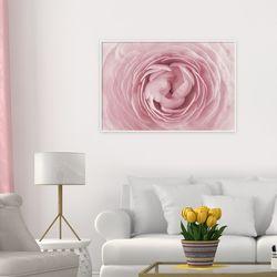 모던 화이트 알루미늄 그림 액자 봄맞이 장미 꽃 사진