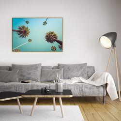 인테리어 홈데코 휴양지 사진 액자 푸른 하늘 야자수