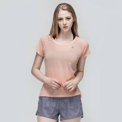 [TS7046 라이트오렌지]여성 런닝복 겸용 반팔 요가복