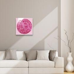 인테리어 선물 데코 봄맞이 핑크 장미 꽃다발 액자