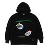 EYE HEAVY SWEAT OVERSIZED HOODIE BLACK