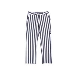 GREAT LOGO PATCH SKATER PANTS STRIPE