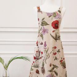 [방수] 린넨 꽃이랑 앞치마