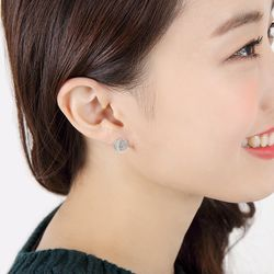 Round Disk Silver Earring(각인X)