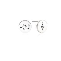 Round Disk Silver Earring(각인가능)