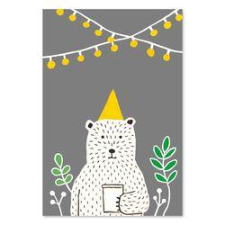 북유럽포스터 - 파티곰 PARTY BEAR POSTER (M size)