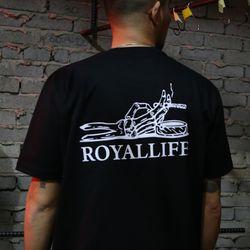 RL211 스모킹 스컬 반팔 - 블랙