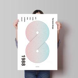 유니크 디자인 포스터 M 최신경향1988 A3(중형)