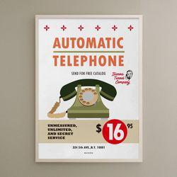 유니크 디자인 포스터 M 16달라텔레폰 A3(중형)