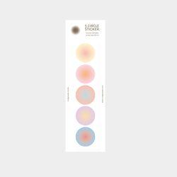 5 circle sticker - gradation
